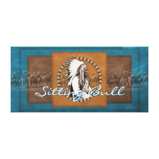 Vintage Photo Sitting Bull Wrapped Canvas Canvas Print