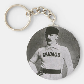 Vintage Photo, Sports Chicago Baseball Player Keychain