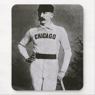 Vintage Photo, Sports Chicago Baseball Player Mouse Pad