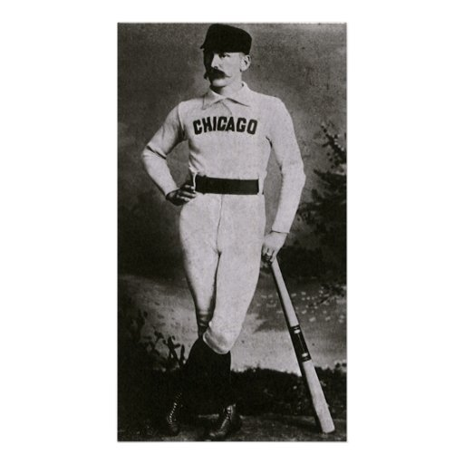 Vintage Photo, Sports Chicago Baseball Player Poster