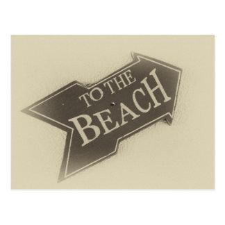 Vintage Photo To The Beach Arrow Postcard
