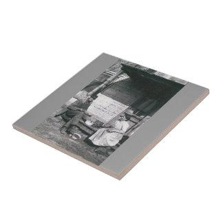 vintage photo trivet tile ceramic tile