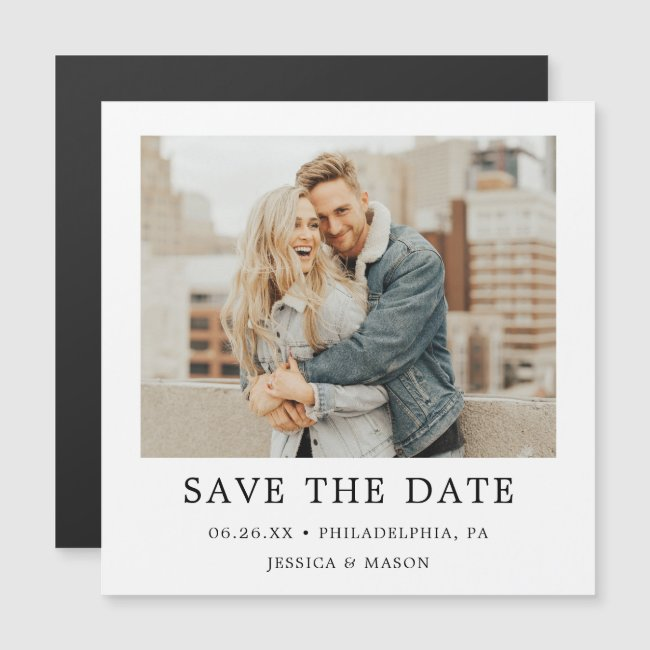 Vintage Photo Wedding Save The Date Magnets