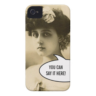 Vintage Photo Woman Rose in Hair iPhone 4 Case