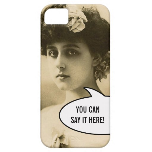 Vintage Photo Woman Rose in Hair iPhone 5 Case