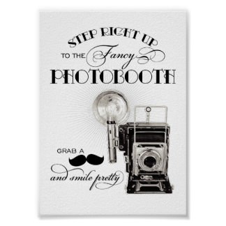 Vintage Photobooth Sign Wedding Reception Print