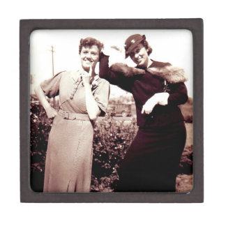 Vintage Photograph Funny Ladies Gift Box
