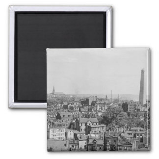 Vintage Photograph of Charlestown Massachusetts 2 Inch Square Magnet