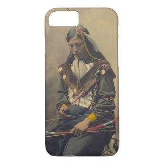 Vintage Photograph of Cherokee Man with Bow iPhone 8/7 Case