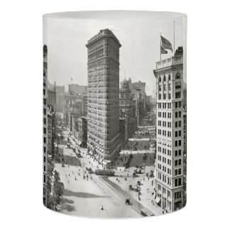 Vintage Photograph of The NYC Flat Iron Building 3 Flameless Candle