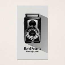 Vintage Photographer Camera Photography Business Card