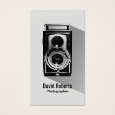 Vintage Photographer Camera Photography Business Card at Zazzle