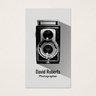 Vintage photography business cards templates zazzle vintage photographer camera photography business card reheart Gallery