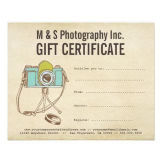 Vintage Photographers Gift Certificate Template Flyer Design