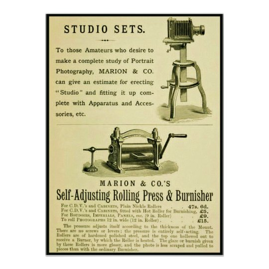 Vintage Photography Ad ~ Studio Sets Poster
