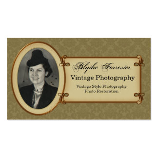 Vintage Photography and Restoration Business Card