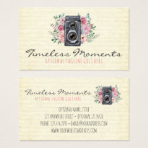 Vintage Photography Camera Rustic Photographer Business Card