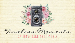 Vintage photography business cards templates zazzle vintage photography camera rustic photographer business card reheart Gallery