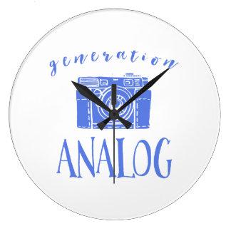 Vintage Photography Funny Generation Analog Large Clock