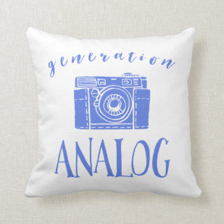 Vintage Photography Funny Generation Analog Throw Pillow