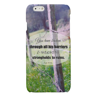 Vintage photography psalm 89:40 glossy iPhone 6 case