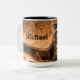 Vintage Photography Two Tone Mug