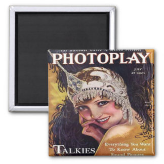 Vintage Photoplay Film Magazine Cover 1929 2 Inch Square Magnet