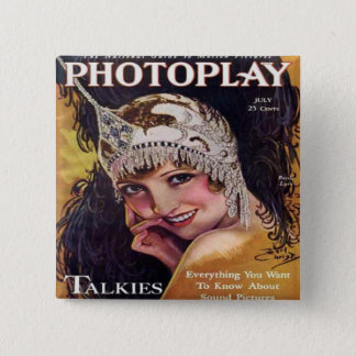 Vintage Photoplay Film Magazine Cover 1929 Button
