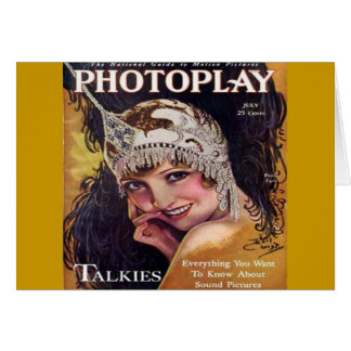 Vintage Photoplay Film Magazine Cover 1929 Card