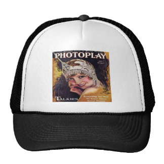 Vintage Photoplay Film Magazine Cover 1929 Mesh Hat