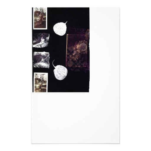 Vintage Photos and Silver Leaves Stationery