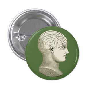 Vintage Phrenology Button