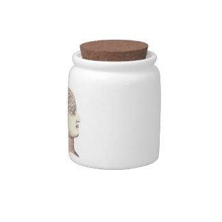 Vintage Phrenology Candy Jar