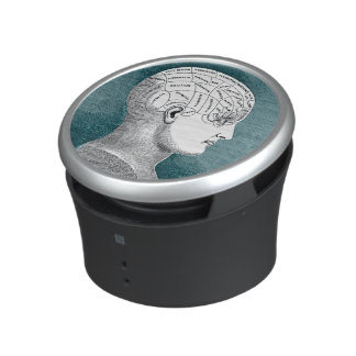 Vintage Phrenology Head Illustration Speaker