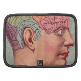 Vintage Phrenology Head Folio Planner