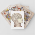 "Vintage Phrenology Playing Cards<br><div class=""desc"">Play a few hands with these cards printed with a phrenology head bump map on the back.</div>"