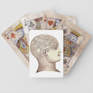 Vintage Phrenology Playing Cards