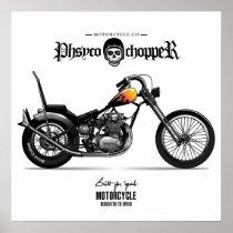 Vintage Physco Chopper Motorcycle