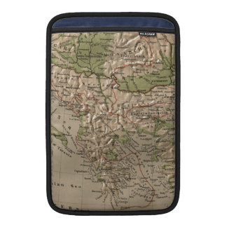Vintage Physical Map of Greece (1880) MacBook Sleeve