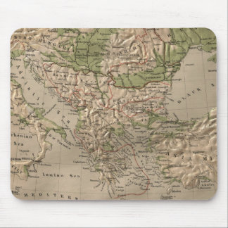 Vintage Physical Map of Greece (1880) Mouse Pad