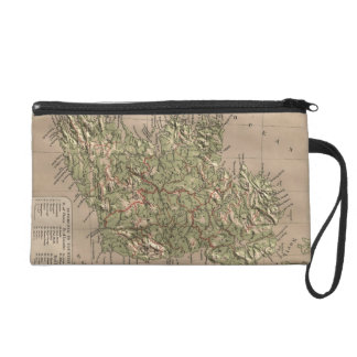 Vintage Physical Map of Ireland (1880) Wristlet Purse