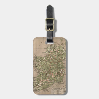 Vintage Physical Map of Ireland (1880) Luggage Tag