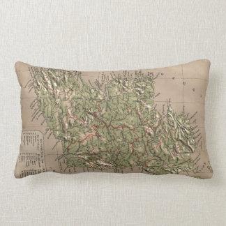 Vintage Physical Map of Ireland (1880) Lumbar Pillow