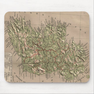 Vintage Physical Map of Ireland (1880) Mouse Pad