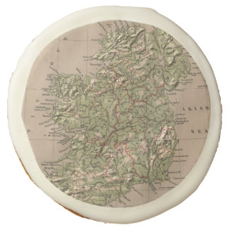 Vintage Physical Map of Ireland (1880) Sugar Cookie