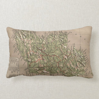 Vintage Physical Map of Ireland (1880) Throw Pillow