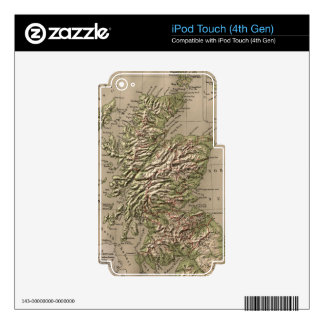 Vintage Physical Map of Scotland (1880) Skin For iPod Touch 4G