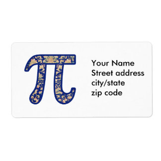 Vintage Pi Personalized Shipping Labels