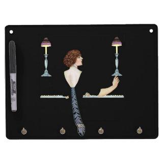 Vintage Piano Girl Dry Erase Board