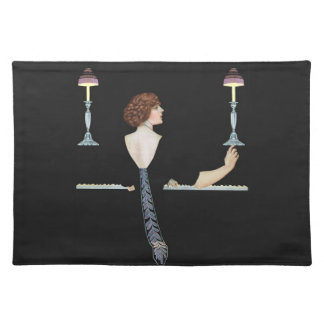 Vintage Piano Girl Placemats